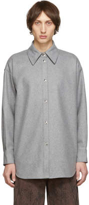 Acne Studios Grey Flannel Shirt