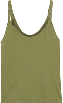 Current/Elliott Twisted Cotton-jersey Tank