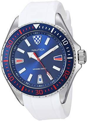 Nautica Men's NAPCPS902 Crandon Park Silicone Strap Watch