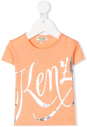 Kenzo Kids short sleeve logo print T-shirt