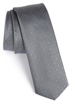 HUGO Men's Boss Dot Silk Skinny Tie