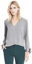 Banana Republic Long-Sleeve Bow Cuff Shirt