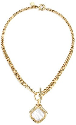 Gas Bijoux Siena 24K Gold-Plated & Mother-Of-Pearl Pendant Necklace