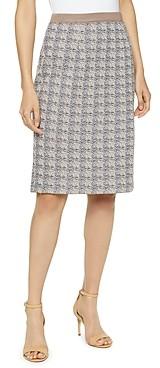 Misook Straight Jacquard Knit Skirt