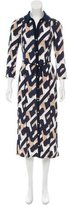 Laundry by Shelli Segal Printed Tie-Accented Dress w/ Tags