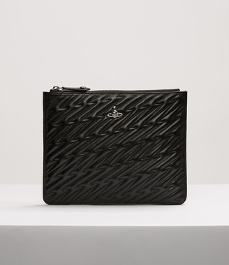 Vivienne Westwood Coventry Quilted Pouch Black