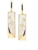 Lana Satin Mother-of-Pearl Bar Earrings