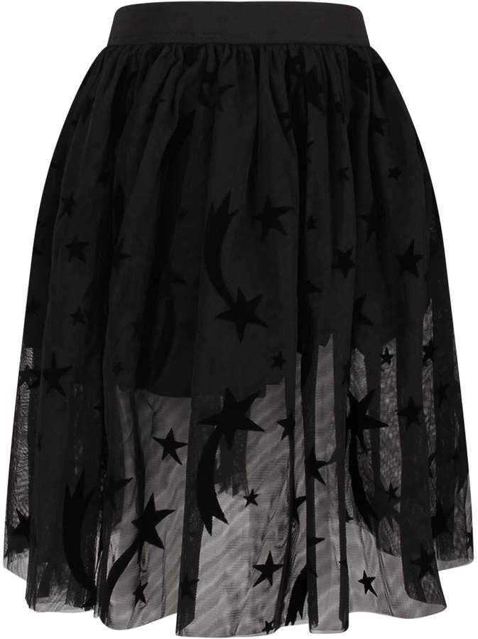 Stella McCartney Black Girl Skirt With Black Pois