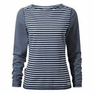 Craghoppers Ladies NosiLife Erin Long Sleeve Top Night Blue 12