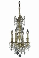 """Utica 4 - Light Candle Style Classic / Traditional Chandelier with Crystal Accents Astoria Grand Color: Dark Bronze, Size: 18"""" H x 10"""" W x 10"""" D, Crys"""