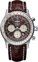 Rado AB031021/Q615/756P Navitimer Rattrapante stainless steel and leather chronograph watch
