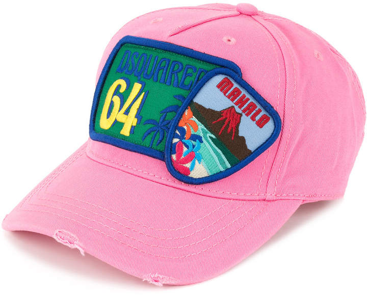 DSQUARED2 badge embroidered baseball cap