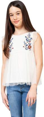 Dex Girl's Embroidered Sleeveless Top