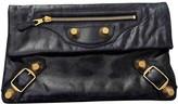 Balenciaga Envelop Navy Leather Clutch bags
