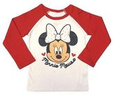 Disney ̈ Minnie Mouse Toddler Girls' Long Sleeve Thermal T-Shirt - White