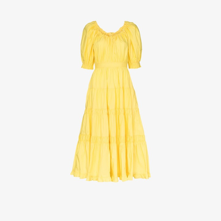 Ulla Johnson Colette puff sleeve cotton dress