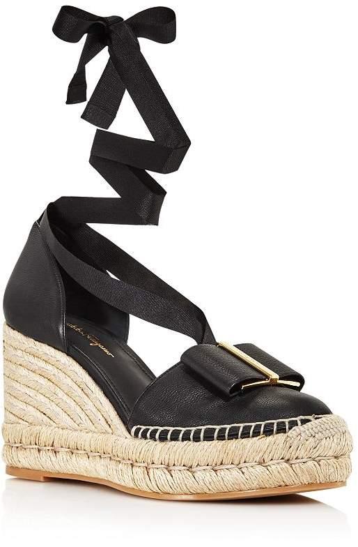 Salvatore Ferragamo Women's Geraniolos Espadrille Tie-Up Sandals