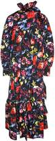 Kenzo Wild Flowers-print Taffetas Long Dress