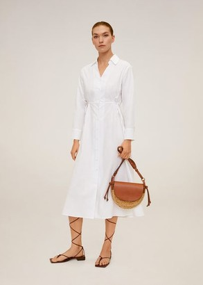 MANGO Midi shirt dress off white - 4 - Women