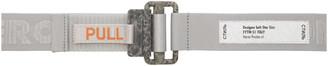 Heron Preston Silver Grosgrain Tape Belt