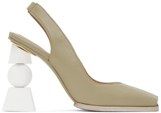 Jacquemus Green Les Chaussures Valerie Heels