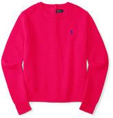 Ralph Lauren Merino Button-Back Sweater
