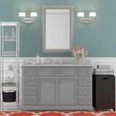 "Three Posts Bergin 48"" Single Sink Bathroom Vanity Set Base Finish: Grey"
