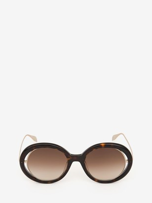 Alexander McQueen Open Wire Sunglasses
