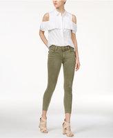 Joe's Jeans Charlie Raw-Hem High-Rise Skinny Jeans