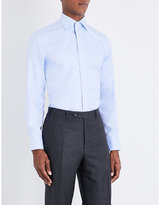 Canali Regular-fit Herringbone Cotton Shirt