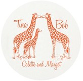 The Well Appointed House Giraffe Family Personalized Letterpressed Coasters