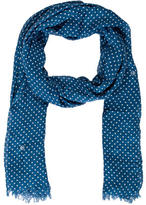 Moschino Dotted Peace Scarf w/ Tags