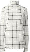 Classic Women's Plus Size Shaped Layering Turtleneck-Ivory Fairisle