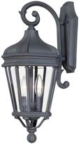 The Great outdoors by Minka Lavery Harrison 2-Light Black Outdoor Wall Mount Lantern