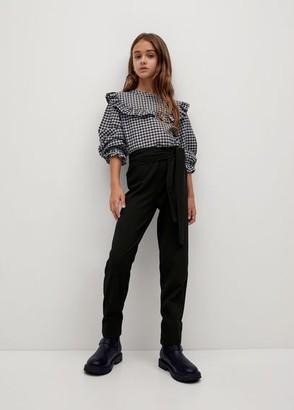 MANGO Bow trousers