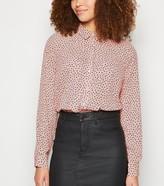 New Look Spot Print Long Sleeve Shirt