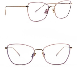 Diff Eyewear Charlotte 54mm Cat Eye Blue Light Blocking Glasses