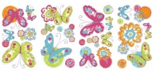 York Wall Coverings York Wallcoverings Brushwork Butterfly Peel and Stick Wall Decals