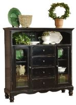 Hillsdale Wilshire 4-Drawer Baker's Cabinet in Rubbed Black