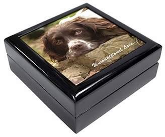 Springer Spaniel 'Unconditional Love' Keepsake/Jewellery Box Christmas Gift