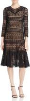 Rebecca Taylor Lace Ruffle Hem Dress