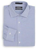 Saks Fifth Avenue Slim-Fit Mini Check Cotton Dress Shirt