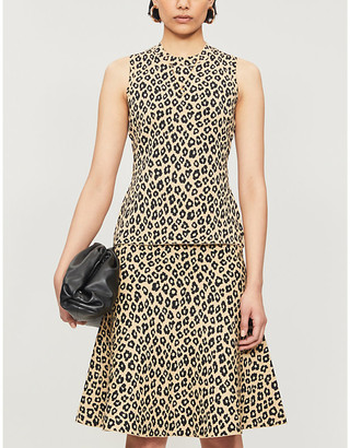 Theory Gloss leopard-print stretch-jersey vest