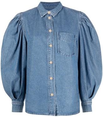 Essentiel Antwerp Denim Puff Sleeve Shirt