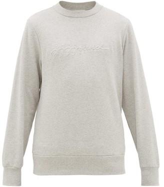 A.P.C. Jjjjound X Jjjjound X X Jjjjound Logo-embossed Cotton Sweatshirt - Mens - Grey