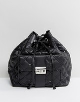 MANGO Quilted Duffle Backpack