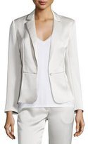 Elizabeth and James Rory Satin Single-Button Jacket, Champagne