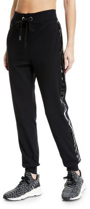 NO KA 'OI No Ka Oi Kana Drawstring Jogger Track Pants with Racer Stripes