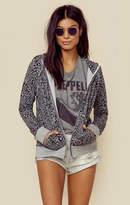 Sundry leopard print hoodie
