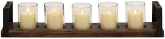 Uma Enterprises Wood & Iron Candleholder